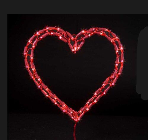 Valentine Heart Lights Decorations Holiday Dcor