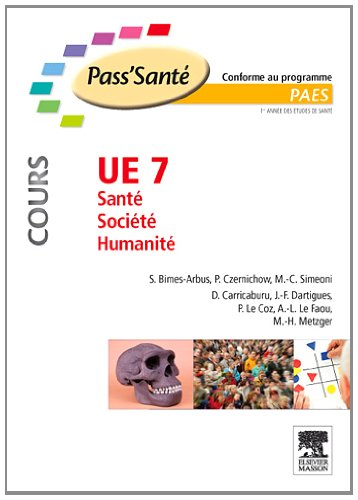 UE 7 - Sante - Societe - Humanite (cours) Stephanie Bimes-Arbus Pierre Czernich