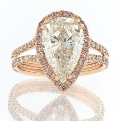4.11 Pear Shape Diamond Engagement Anniversary Ring