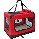 ALEKO® PBCREDL 26X19.5X19.5 Inch Large Heavy Duty Collapsible Pet Carrier Portable Pet Home Spacious Traveler...