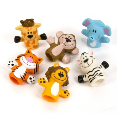 2-inch Zoo Animal Finger Puppets (Bulk Pack of 12 Puppets) - 1