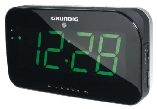 Brandson - Retro FM Radiowecker / Projektionswecker / Uhrenradio / digitaler Wecker | Zeitprojektion | Radio FM | stilvolles Rund-Design | 180° drehbar | Fokussierring | weiß/silber