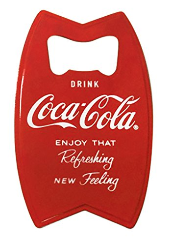 TableCraft Coca-Cola CC343M Stainless Fridge Magnet Opener, 4-Inch, Red, 2-Pack (Coca Cola Bar Fridge compare prices)