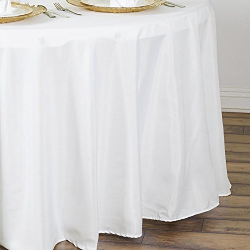 Linentablecloth 90 Inch Round Polyester Tablecloth Ivory