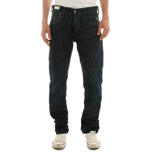 Replay Mens Newdoc 494 016 Regular Fit Jeans - Denim 007 - 38 L