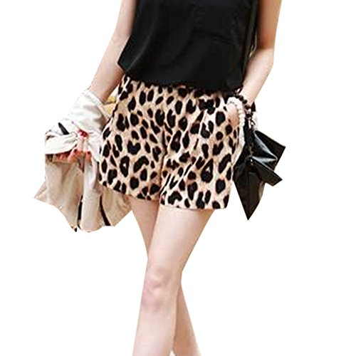 Toptie Leopard Print Women Shorts L