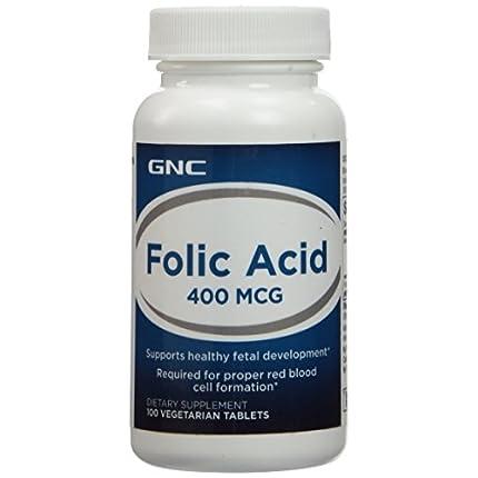 GNC 健安喜 叶绿素食片 Folic Acid 400mcg 孕妈必备...