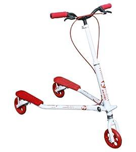Trikke T7 Kids scooter (White Red) by Trikke