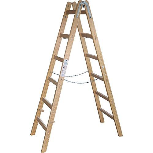 Holzleiter-Stehleiter-189cm-6-Sprossen-Malerleiter-Holzstehleiter-DEWEPROx-tools