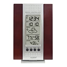 La Crosse Technology WS-7014CH-IT Indoor & Outdoor Digital Thermometer w/ Indoor Humidity, Forecaster, Atomic Clock