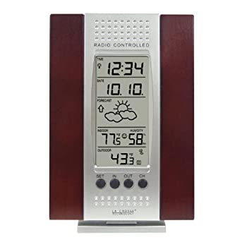 Set A Shopping Price Drop Alert For La Crosse Technology WS-7014CH-IT Indoor & Outdoor Digital Thermometer w/ Indoor Humidity, Forecaster, Atomic Clock