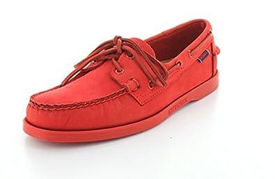 Sebago Men's Docksides,Bright Red Nubuck,US 7 M