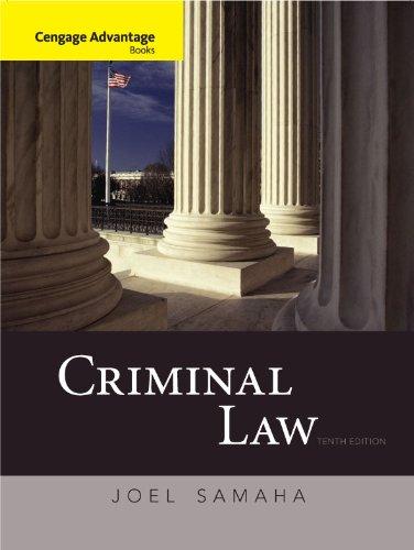 Cengage Advantage Books: Criminal Law