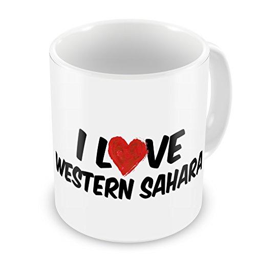 Coffee Mug I Love Western Sahara - Neonblond