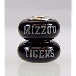 Missouri Tigers Fenton Glass Bead Fits Most Pandora Style Charm Bracelets