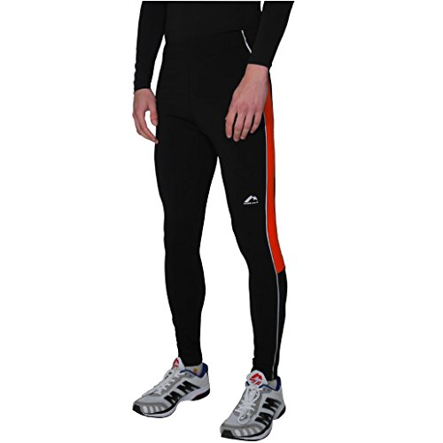 More Mile da uomo Sport, corsa collant termici Black/Red Small