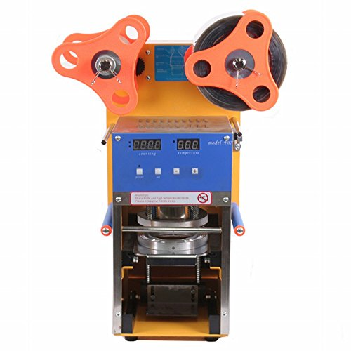 Maxtopes Cup Sealing Machine 400W Semi-Automatic Electric For Bubble Tea Coffee With Led Display Business Cup Sealer 400-600 Cups/Hour