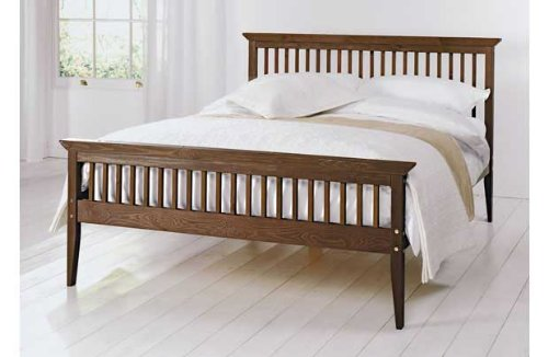 Kingsize 5ft Chocolate Shaker pine bed frame with Tanya Mattress