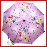 Tinkerbell Umbrella - Disneys Childrens Licensed Rain Umbrella Featuring Tinker Bell & Pixie Friends Forever Fairies with 3D Handle for Kids - Great Gift Idea ~ Tinkerbell