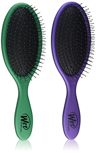 The Wet Brush Metallics Collection 2 Pack , Metallics Green & Purple Value Pack!!
