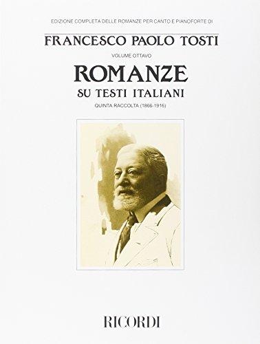 Romanze Su Testi Italiani -V (1866-1916)