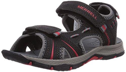 Merrell Panther - Sandali da Arrampicata Bambino, Multicolore (Black/Red), 36 EU