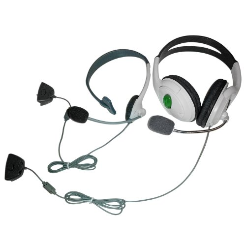 Hde 2X White Gaming Headsets With Microphone For Microsoft Xbox 360 Chat