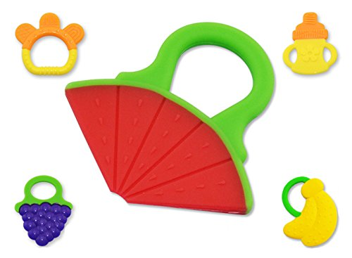 Zhihang-Newborn-Toys-Plastic-Toys-Silicone-Baby-Teeth-Stick-Watermelon-Shape4-Months-and-up-Molar-Toys