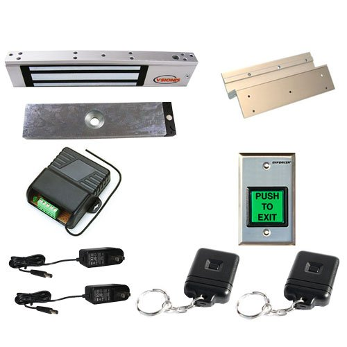 Fpc-5007 One Door Access Control Inswinging Door 300Lbs Electromagnetic Lock Kit With Seco-Larm Wireless Receiver And Remote Kit