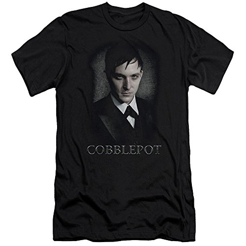 Gotham Crime Drama TV Series Cobblepot Penguin Stare Adult Slim Fit T-Shirt Tee at Gotham City Store