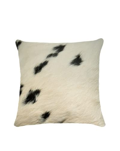 Natural Brand Torino Cowhide Pillow, White/Black As You See