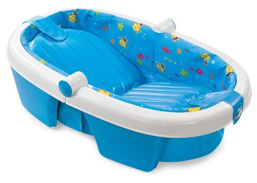 Summer Infant Newborn To Toddler Fold Away Baby Bath Color: Blue Size: One Size Newborn, Kid, Child, Childern, Infant, Baby