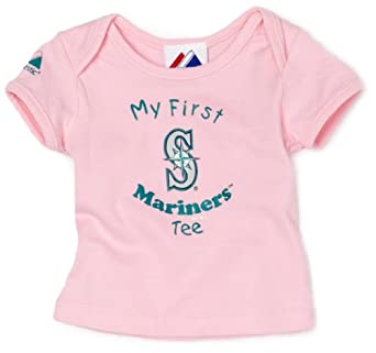 MLB Infant/Toddler Boys' Seattle Mariners My First Tee (Pink, 3-6 Months)