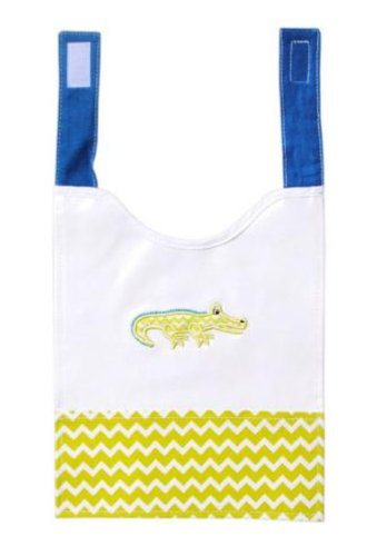 Alligator Design Baby Bib - Coated Canvas with Velcro - Practical and Adorable