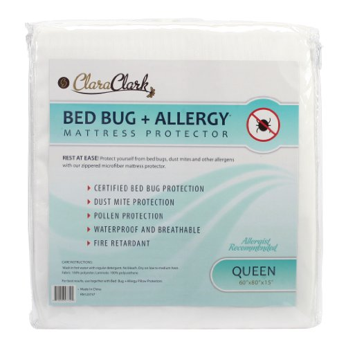 Best Prices! Queen Size Clara Clark Hypoallergenic 100% Waterproof Washable Fire Retardant Mattress ...