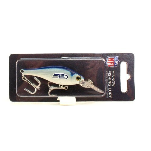 NFL Team Logo Minnow Fishing Lure Crank Bait Lures (Seattle Seahawks) (Seattle Fishing compare prices)