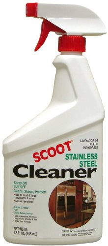 Scoot Stainless Steel Cleaner, 32-Ounce Bottles, Pack of 2