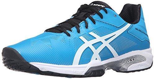 ASICS Men's Gel-Solution Speed 3 Tennis Shoe, Blue Jewel/White/Black, 10.5 M US
