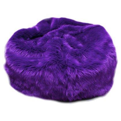 FuzzyFurry Bean Bag Chair ~ Deep Purple