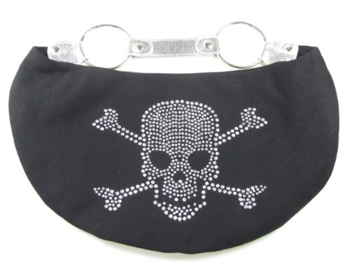 Studded Rhinestone Skull Handbag or Diaper Bag (Small)