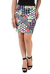 NOD Blue Printed skirt for women