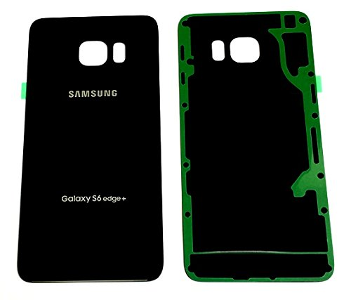 "New OEM Battery Back Cover Glass Panel with Adhesive Preinstalled For Samsung Galaxy S6 Edge+ Plus G928P "" Sprint"" ~ Black Sapphire + Screen Protector ~ USA"