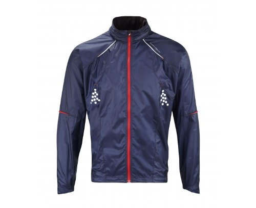 Ronhill Men's Trail Microlight Jacket - Indigo/Racing Red, Medium