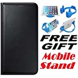 Samsung Galaxy J1 4G Flip Cover Case With Free Mobile Stand By Vinnx - Black
