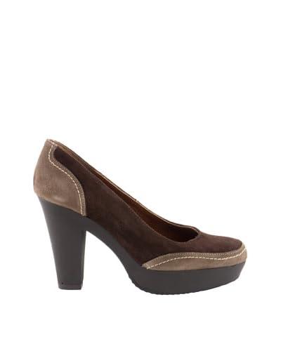 Liberitae Zapatos Plataforma Topo / Marrón