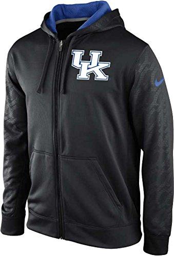 Nike Kentucky Wildcats KO Chainmail Sleeve Therma-FIT Hoodie Zip Jacket (Black, Small)