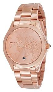 Naf Naf Damen-Armbanduhr Gaya Quarz analog Stahl Farbe Roségold N10154G-812