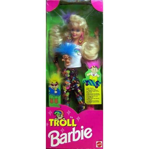 Amazon.com: 1992 Troll Barbie Doll with Mini Troll Doll