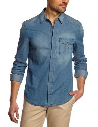 Calvin Klein Jeans - Chemise - Homme - Bleu (Blue Jean) - Large