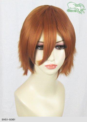 スキップウィッグ 魅せる シャープ 小顔に特化したコスプレアレンジウィッグ マニッシュショート オレンジブラウン